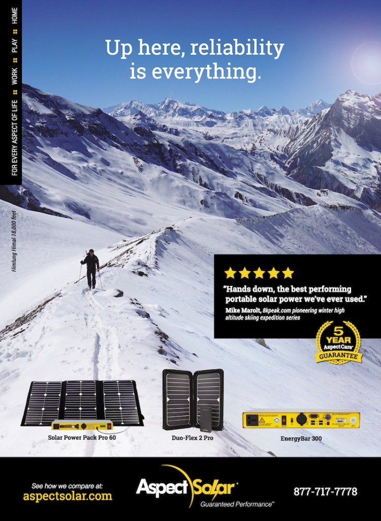 Aspect Solar Outside Magazine Ad