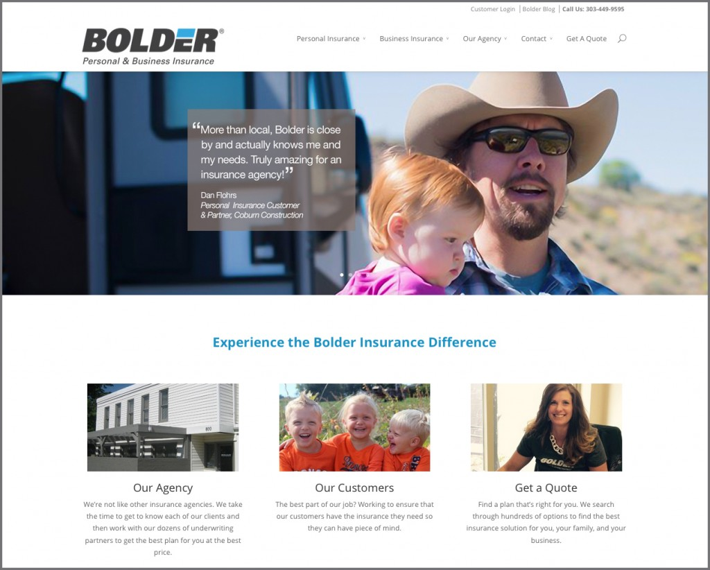 Bolder Insurance New Home Page