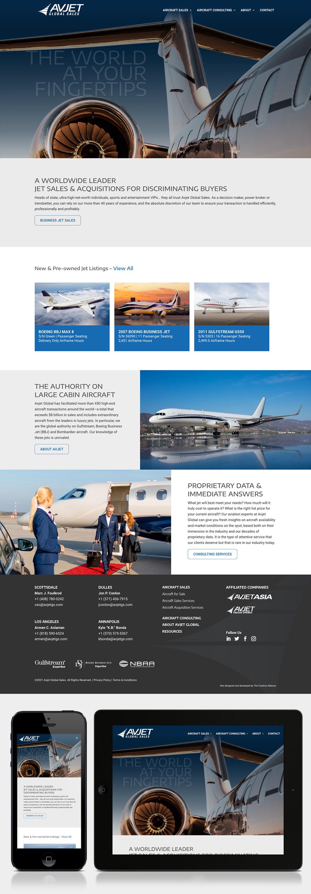 Avjet Global Sales Website
